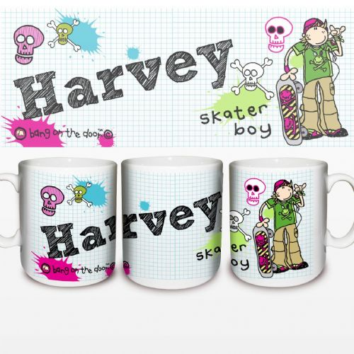 Personalised Bang on the Door Skater Boy Mug
